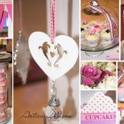 decor, pink, dessert