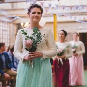 bouquet, bridesmaid dress, protea