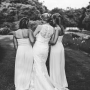 black and white, bridesmaids