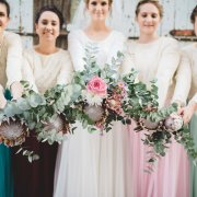 bouquet, bridesmaids dress