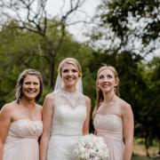 bouquet, bridesmaids dress, wedding dress