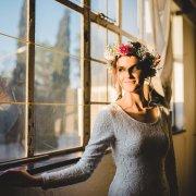 dress, flower crown