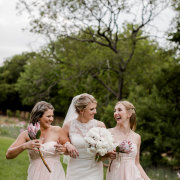 bouquet, bride, bridesmaids