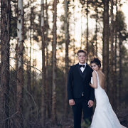 bride and groom, forest, venue