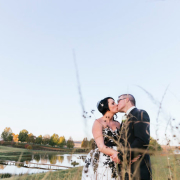 bride and groom, dam, venue