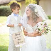 bride, ring bearer