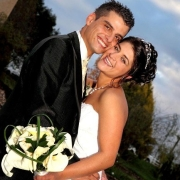 bouquet, bride and groom, tiara