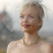 pearls, veil