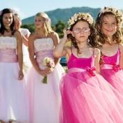 bridesmaid dress, flower girls