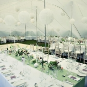 reception, tent, table