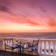 cocktail, sea, seating, sunset