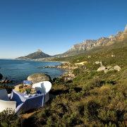 mountain, sea, seating