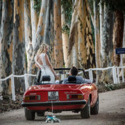 car, just married