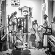 bridesmaid dress, black and white, bridesmaid