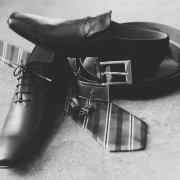 shoes, tie