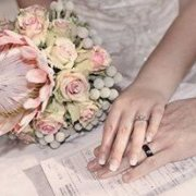 bouquet, flowers, protea, ring