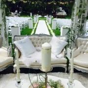 aisle, flowers, gazebo, seating