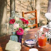 flowers, kitchen tea, table