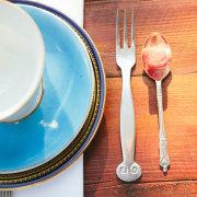 crockery, cutlery, kitchen tea