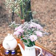 flowers, kitchen tea