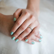blue, nails, wedding ring