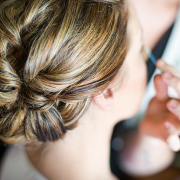 bridal hair, hairstyle