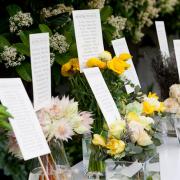 flowers, seating plan