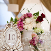 flowers, table numbers