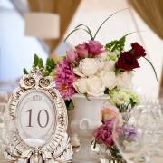 flowers, table numbers