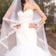 bracelet, necklace, veil, wedding dress