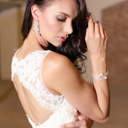 bracelet, wedding dress, earrings