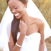 veil, bracelet, earrings