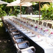 outdoor reception, outside reception, reception, table setting