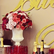 champagne, flowers