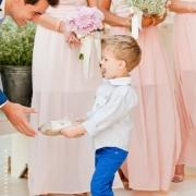 bouquet, bridesmaid dress, page boy