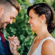 bride and groom, hair