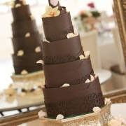 4 tier cake, chocolate, cake