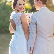 bride and groom, wedding dress