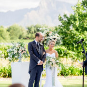 altar, bouquet, bride and groom, suit