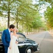 car, suit, wedding dress