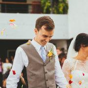 confetti, groom
