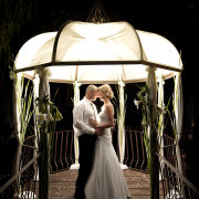 gazebo, wedding dress
