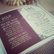 mahogany, wedding invitation, wedding stationery