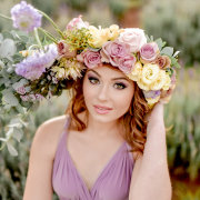 flowers, headpiece, makeup