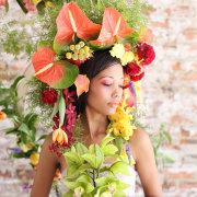flowers, headpiece, makeup