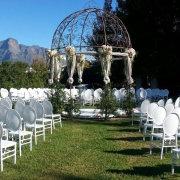 arch, ceremony, outdoor, gazebo, winelands