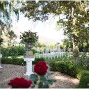 outdoor ceremony, winelands