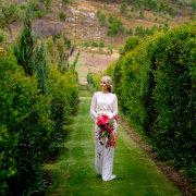 bouquet, wedding dress, winelands