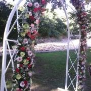 decor, flowers, wedding arch