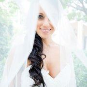 hairstyle, makeup, veil